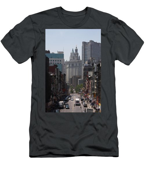 Manhattan Chinatown Men's T-Shirt (Slim Fit) by Vadim Levin