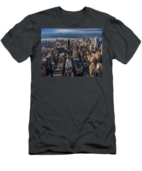 Manhattan, Ny Men's T-Shirt (Slim Fit) by Martina Thompson