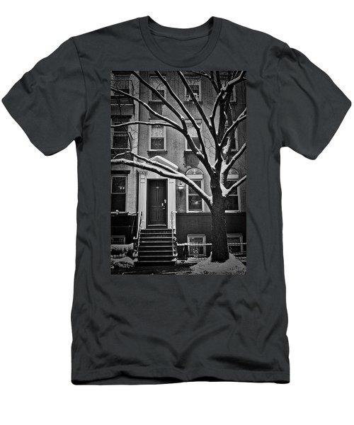Manhattan Town House Men's T-Shirt (Slim Fit) by Joan Reese