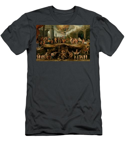 Mankind's Eternal Dilemma, The Choice Between Virtue And Vice Men's T-Shirt (Athletic Fit)