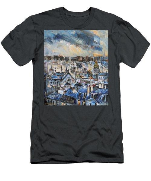 Mansards In Blue Men's T-Shirt (Athletic Fit)