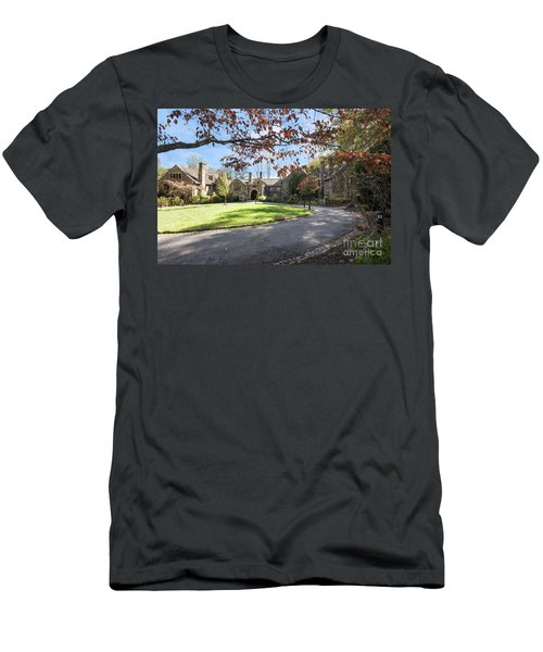 Mansion At Ridley Creek Men's T-Shirt (Slim Fit) by Judy Wolinsky