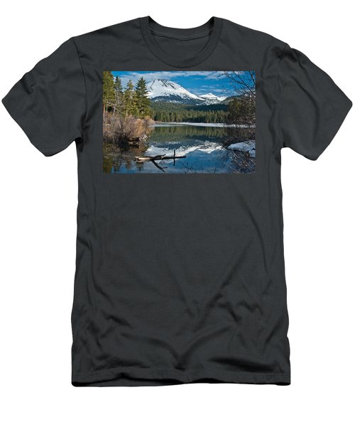 Manzanita Lake Reflects On Mount Lassen Men's T-Shirt (Athletic Fit)