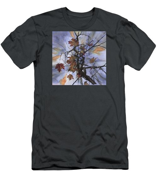 Maple Autumn Splash Men's T-Shirt (Slim Fit) by Carolyn Doe