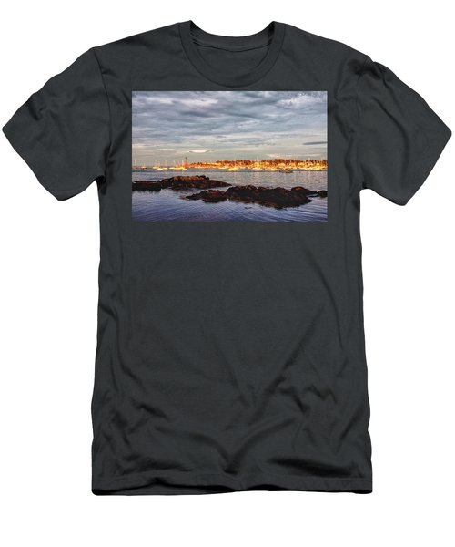 Men's T-Shirt (Athletic Fit) featuring the photograph Marblehead Neck From Fort Beach by Jeff Folger