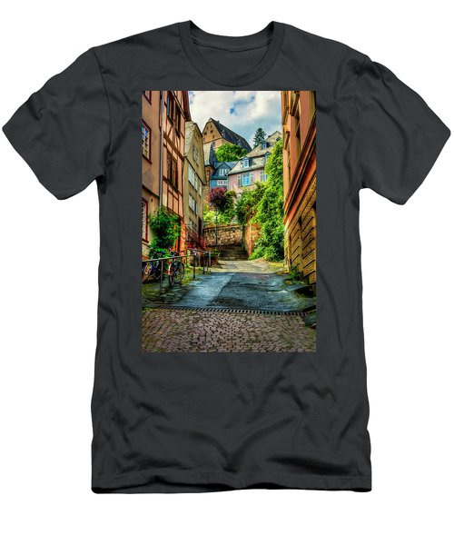 Men's T-Shirt (Slim Fit) featuring the photograph Marburg Alley by David Morefield