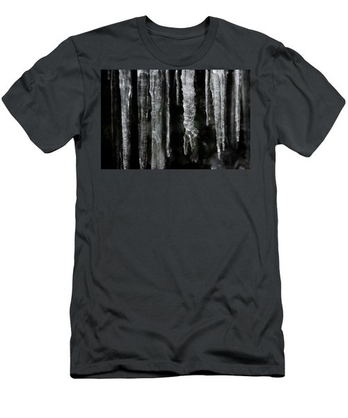 Men's T-Shirt (Slim Fit) featuring the photograph March Icicles by Mike Eingle