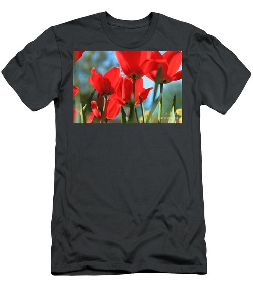 March Tulips Men's T-Shirt (Slim Fit) by Jeanette French