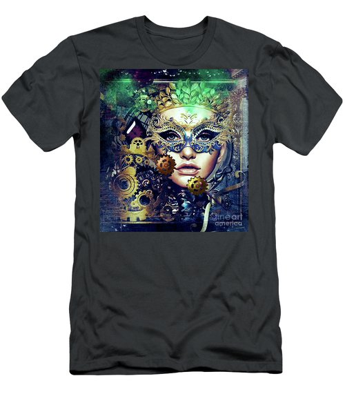 Mardi Gras Mask Men's T-Shirt (Athletic Fit)