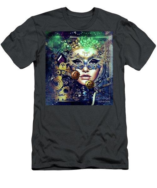 Mardi Gras Mask Men's T-Shirt (Athletic Fit)
