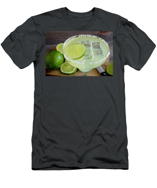 Men's T-Shirt (Slim Fit) featuring the photograph Margarita Close Up by Teri Virbickis