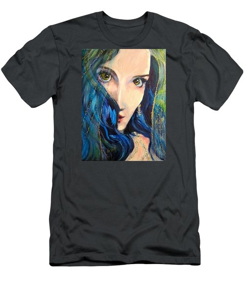Mariah Blue Men's T-Shirt (Slim Fit) by Barbara O'Toole