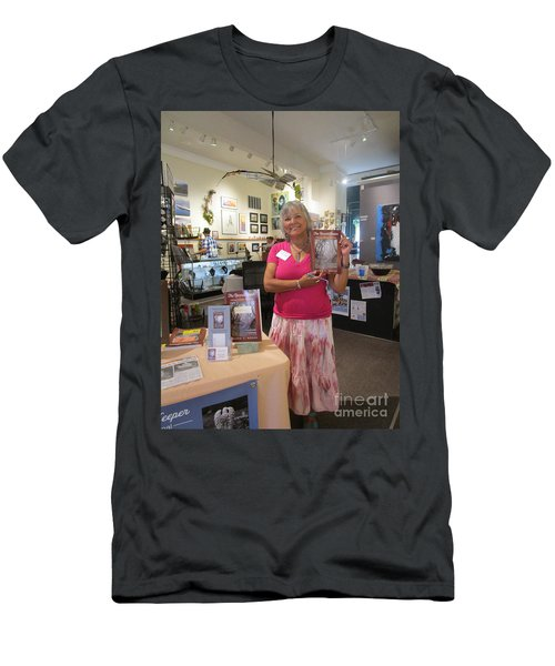 Men's T-Shirt (Athletic Fit) featuring the photograph Marie And The Recordkeeper by Marie Neder