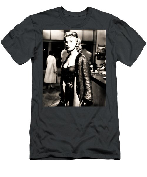 Men's T-Shirt (Athletic Fit) featuring the photograph Marilyn Monroe Dressed To Trill In Bus Stop by R Muirhead Art