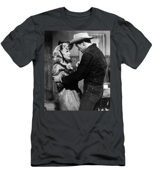 Men's T-Shirt (Athletic Fit) featuring the photograph Marilyn Monroe Scene by R Muirhead Art
