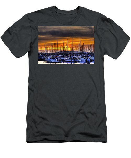 Marina At Sunset Men's T-Shirt (Athletic Fit)