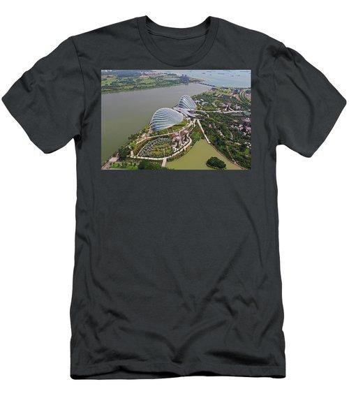 Marina Bay Sands Flower Garden And Park Men's T-Shirt (Athletic Fit)