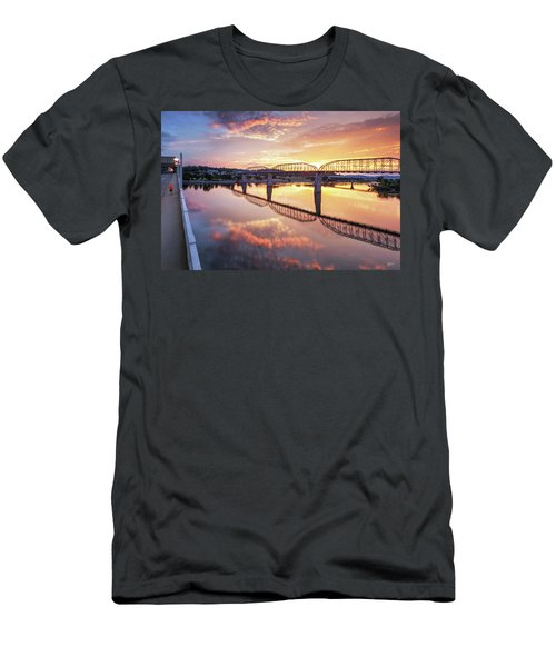 Market Street Jog At Sunrise Men's T-Shirt (Slim Fit) by Steven Llorca