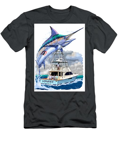 Marlin Commission  Men's T-Shirt (Slim Fit) by Carey Chen