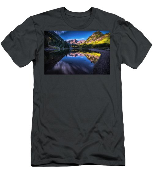 Maroon Bells By Moonlight Men's T-Shirt (Athletic Fit)
