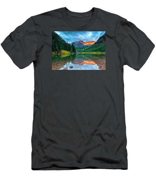 Maroon Bells Sunrise Men's T-Shirt (Slim Fit) by John Vose