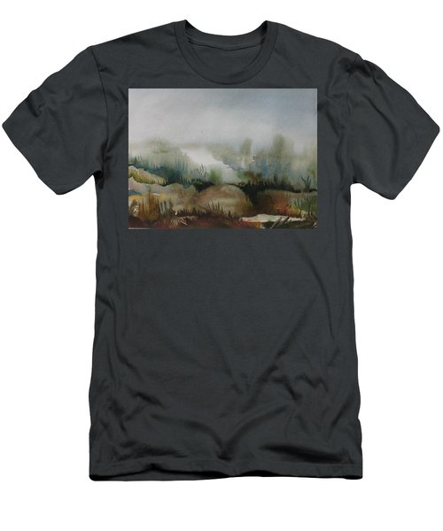 Men's T-Shirt (Slim Fit) featuring the painting Marsh by Anna  Duyunova