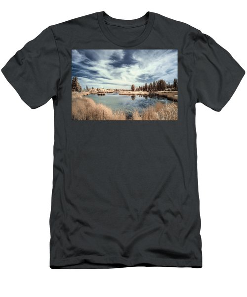 Marshlands In Washington Men's T-Shirt (Slim Fit) by Jon Glaser