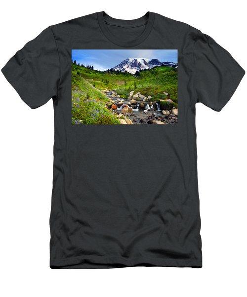 Martha Creek Wildflowers Men's T-Shirt (Athletic Fit)