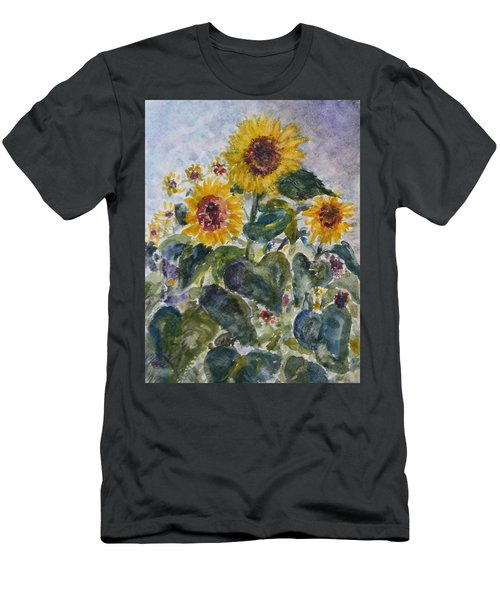 Martha's Sunflowers Men's T-Shirt (Athletic Fit)