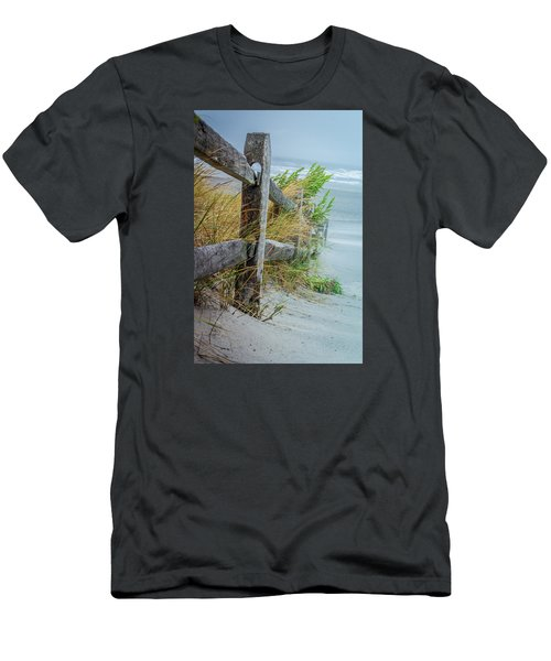 Marvel Of An Ordinary Fence Men's T-Shirt (Slim Fit) by Patrice Zinck
