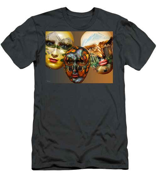 Masks On The Wall Men's T-Shirt (Athletic Fit)