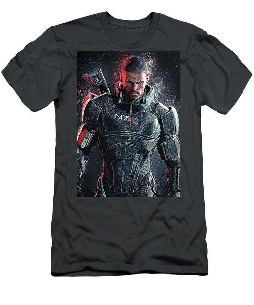 Men's T-Shirt (Slim Fit) featuring the digital art Mass Effect by Taylan Apukovska