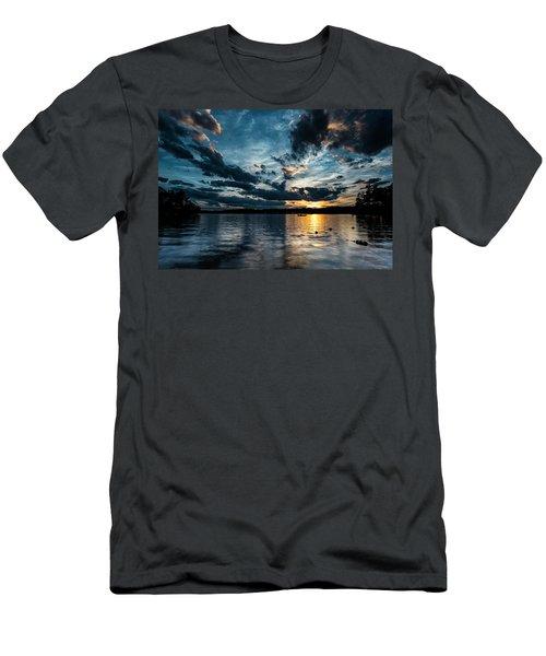 Masscupic Lake Sunset Men's T-Shirt (Athletic Fit)