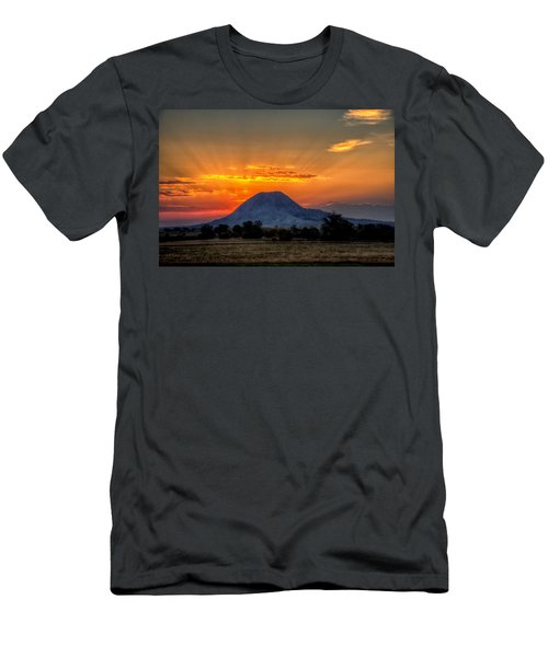 Mato Paha, The Sacred Mountain Men's T-Shirt (Athletic Fit)