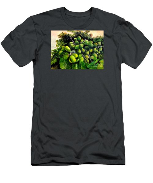 Men's T-Shirt (Slim Fit) featuring the painting Matoa Fruit by Jason Sentuf