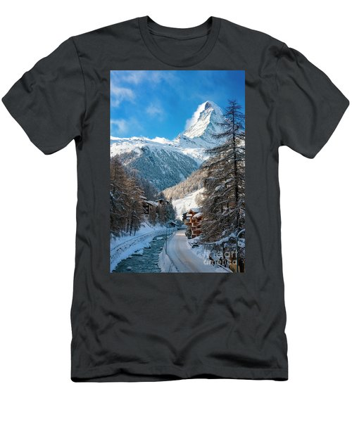 Men's T-Shirt (Athletic Fit) featuring the photograph Matterhorn  by Brian Jannsen
