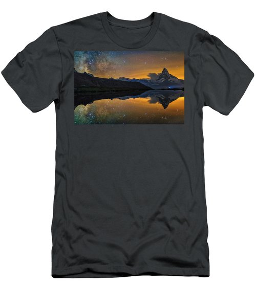 Matterhorn Milky Way Reflection Men's T-Shirt (Athletic Fit)