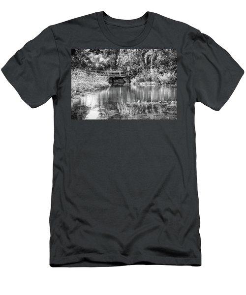 Matthaei Botanical Gardens Black And White Men's T-Shirt (Slim Fit) by Pat Cook