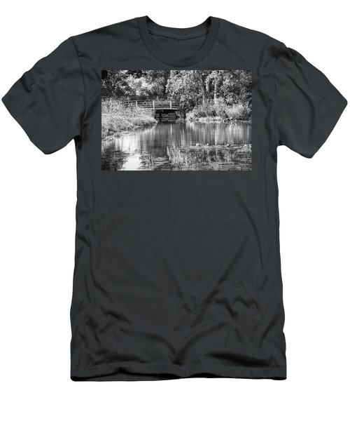 Matthaei Botanical Gardens Black And White Men's T-Shirt (Athletic Fit)