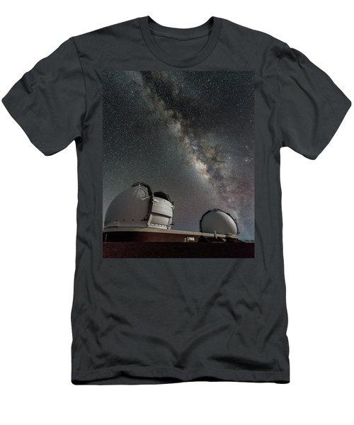 Men's T-Shirt (Slim Fit) featuring the photograph Mauna Kea Night by Allen Biedrzycki