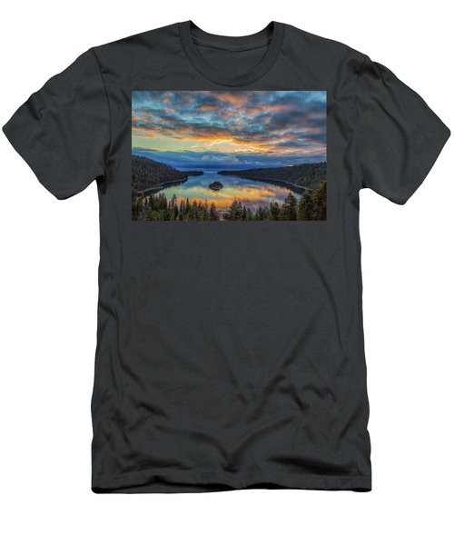 May Sunrise At Emerald Bay Men's T-Shirt (Slim Fit) by Marc Crumpler