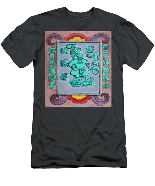 Men's T-Shirt (Slim Fit) featuring the painting Mayan Prince by Antonio Romero