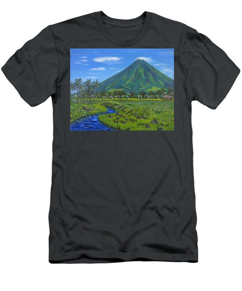 Mayon Volcano Men's T-Shirt (Athletic Fit)