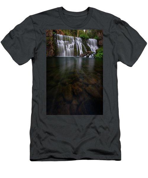 Mccloud Falls Men's T-Shirt (Slim Fit) by Dustin LeFevre
