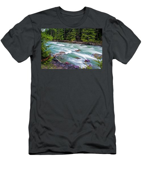Men's T-Shirt (Athletic Fit) featuring the photograph Mcdonald Creek by Gary Lengyel