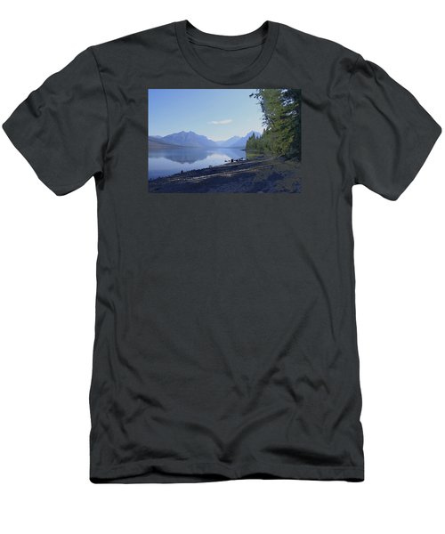Mcdonald Lake Men's T-Shirt (Athletic Fit)