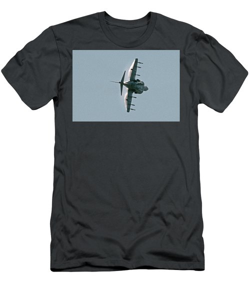 Mcdonnell-douglas Av-8b Harrier Buno 164119 Of Vma-211 Turning Mcas Miramar October 18 2003 Men's T-Shirt (Slim Fit)