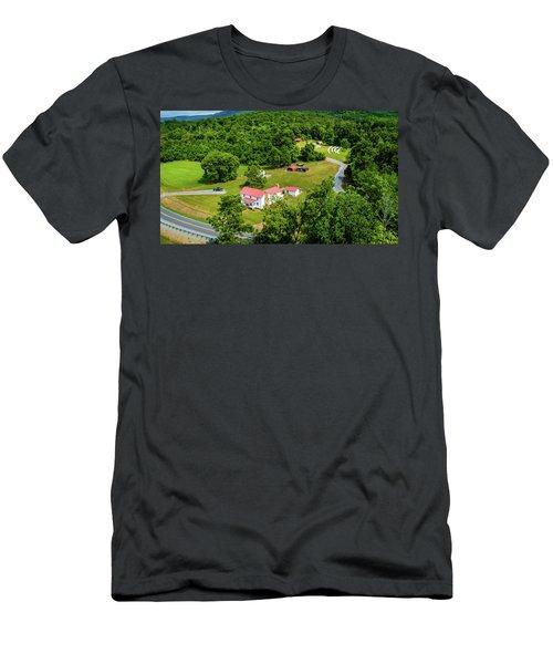 Mcghee Aerial 0068 Men's T-Shirt (Athletic Fit)
