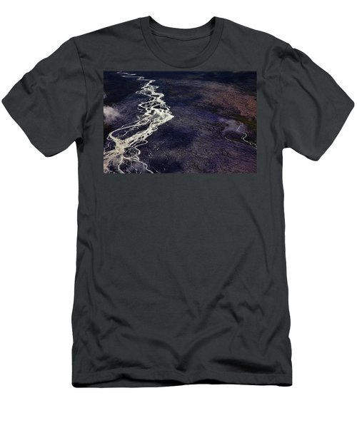 Mckinley River From The Air Men's T-Shirt (Athletic Fit)