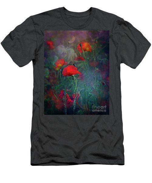Meadow In Another Dimension Men's T-Shirt (Slim Fit) by Agnieszka Mlicka